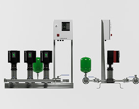 3D model Grundfos Hydro MPC E 3 pump station