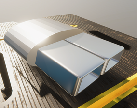Square Exhausts for Sports or Luxury Cars 3D asset