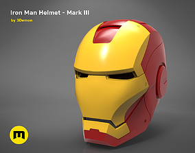 3D print model Ironman helmet - Mark III