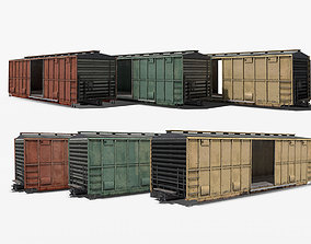 3D model Train Box Car tank