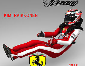 Kimi Raikkonen 2015 3D model