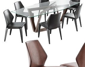 natuzzi frida chair hex table 3D