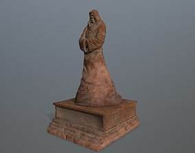 3D asset low-poly column statue