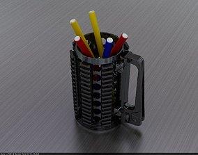 Rifle pen holder cup 3D printable model