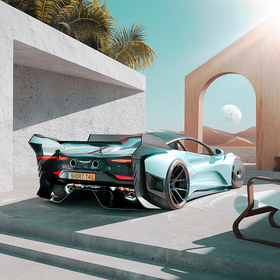 Mclaren Artura 2022 widebody kit concept