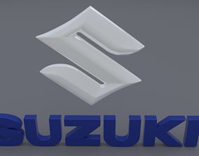 3D model suzuki logo