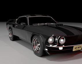 3D model Mustang Mach 1 1969