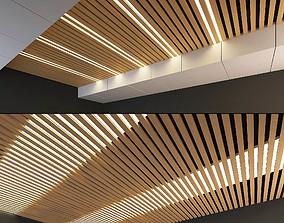 Wooden Ceiling Set 9 3D