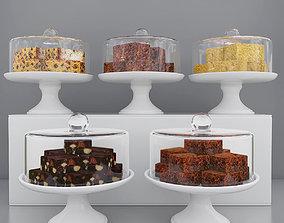 3D model Cake pieces