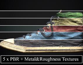 Converse style shoe footwear dirty x 5 3D model