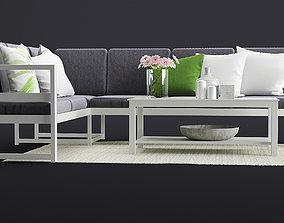 Outdoor Furnitures 15 3D model lshape