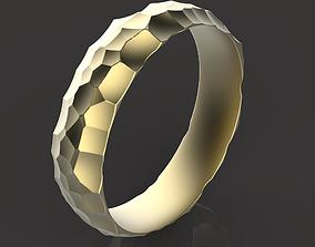 silver printable wedding ring 3D print model
