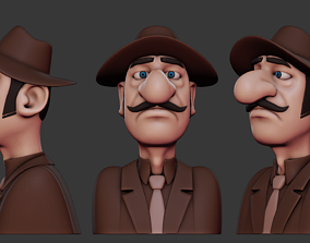 Stylized Caricature Man Print Ready print-sculpt