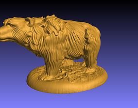 3D print model Bear Statue