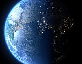 Earth in January 3D model