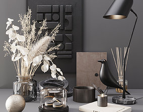 3D model Black modern set