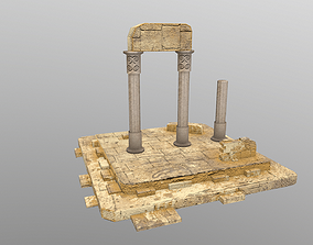 3D model Low Poly Ruins 2