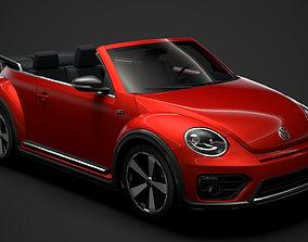 3D model VW Beetle R LIne Convertible 2020