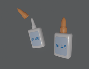 3D model rigged Glue in Bottle