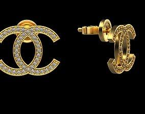 3D printable model Chanel earring V2