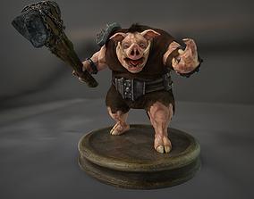3D asset rigged Boar Creature Npc