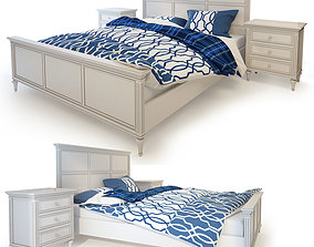 Double bed beige Riverdi 3D