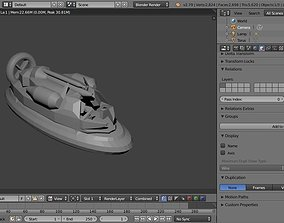 3D asset game-ready IC-200 Hovercraft