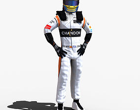 3D asset Fernando Alonso 2017