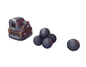 3D asset Cube World Cannon - Proto Series