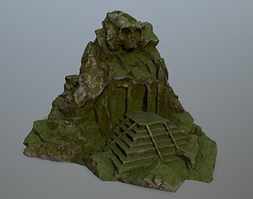 skull gate temple 3D asset realtime