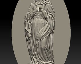 3D printable model Virgin Mary 1 - relief icon - 2019