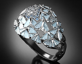 3D printable model Frozen fire enamel ring