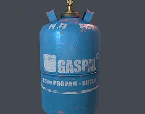 Gas bottle 3D model game-ready PBR