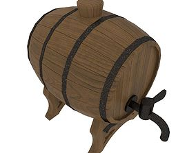 A small cask for wine 3D