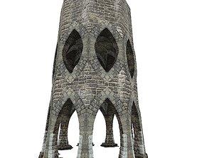 Gatehouse 01 Aqueduct Circle Pillar 05 3D asset
