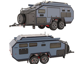 Trailer-camper Bruder EXP6 GT 3D model