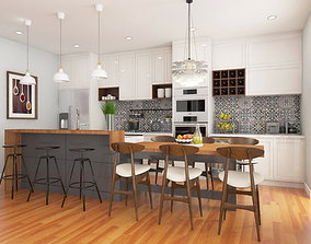 Kitchen Living Dining 3D