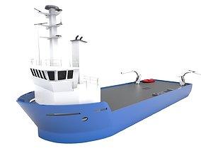 3D model Live Fish Carrier Vessel Ship Render