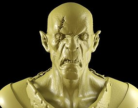 Orc bust 3D print model savage