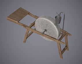 3D model Grindstone Medieval