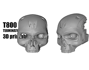 3D printable model T800 Terminator mask helmet