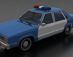 Ford Fairmont 4dr sedan 1978 Police Unmarked 3D asset