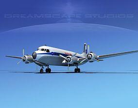 Douglas DC-7B NASA 3D model