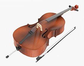 Acoustic cello 3D model