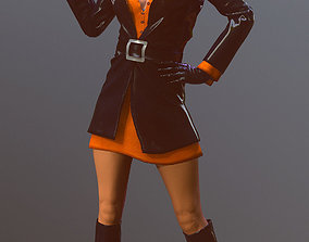 3D asset Female 60s Spy