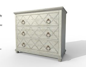 3D model Three Drawer Hall Chest