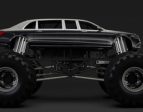 3D Monster Truck Mercedes Maybach S 650 Pullman