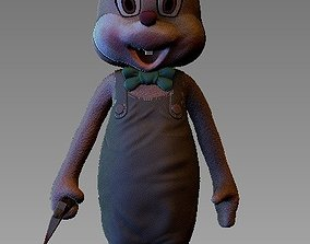 ONE10 scale Robbie the Rabbit-Silent hill 3 statue stl 1