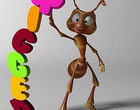 Cartoon Ant RIGGED 3D model