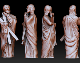 Statue 2 of saint Notre Dame 3D print model